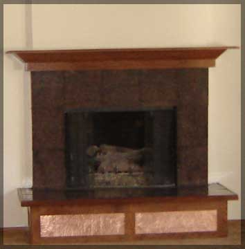 A Fireplace with Hammered Copper